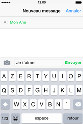 Apple iPhone 4S (iOS 8) - Contact, Appels, SMS/MMS - Envoyer un MMS - Étape 8