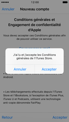 Apple iPhone SE - iOS 10 - Applications - Créer un compte - Étape 11