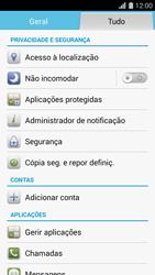 Huawei G620s - Segurança - Como ativar o código PIN do cartão de telemóvel -  3