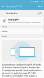 Samsung Galaxy S7 Edge - Wi-Fi - Como usar seu aparelho como um roteador de rede wi-fi - Etapa 7