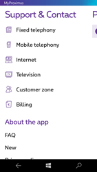 Microsoft Lumia 650 - Applications - MyProximus - Step 20