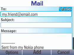 Nokia Asha 210 - Email - Sending an email message - Step 10