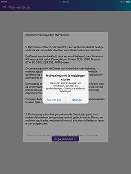 Apple iPad Mini 3 iOS 10 - Applicaties - MyProximus - Stap 11