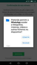 Huawei P9 Lite - Android Nougat - Aplicações - Como configurar o WhatsApp -  7