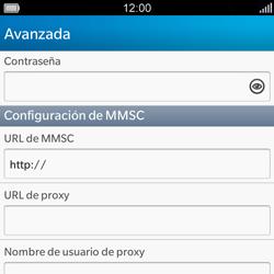 BlackBerry Q5 - Mensajería - Configurar el equipo para mensajes multimedia - Paso 9