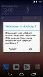 Huawei Ascend P7 - Device maintenance - Effectuer une réinitialisation logicielle - Étape 4