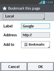 LG E430 Optimus L3 II - Internet - Internet browsing - Step 8