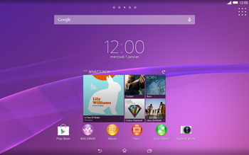 Sony Xperia Tablet Z2 (SGP521) - MMS - configuration automatique - Étape 1