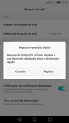 Huawei P9 Lite - Segurança - Como ativar o código de bloqueio do ecrã -  9