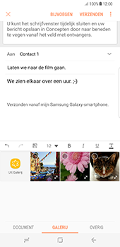 Samsung Galaxy S8 Plus (G955) - E-mail - Bericht met attachment versturen - Stap 13