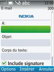Nokia C2-01 - E-mail - envoyer un e-mail - Étape 6