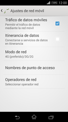 Sony D2203 Xperia E3 - Red - Seleccionar el tipo de red - Paso 6