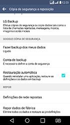 LG K8 - Funções básicas - Como restaurar as configurações originais do seu aparelho - Etapa 6