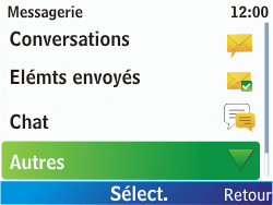 Nokia C3-00 - SMS - Configuration manuelle - Étape 4