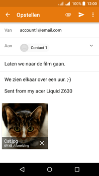 Acer Liquid Z630 - E-mail - E-mails verzenden - Stap 15