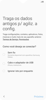 Samsung Galaxy A20 - Primeiros passos - Como ativar seu aparelho - Etapa 8