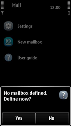 Nokia 500 - E-mail - Manual configuration - Step 5