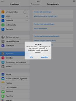 Apple iPad Mini Retina met iOS 7 - Instellingen aanpassen - Fabrieksinstellingen terugzetten - Stap 7