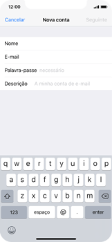Apple iPhone X - Email - Configurar a conta de Email -  9