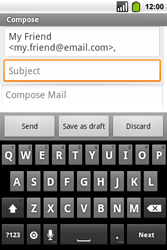Alcatel OT-991 Smart - Email - Sending an email message - Step 6