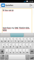 Alcatel OT-6012X Idol Mini - E-mail - Hoe te versturen - Stap 9
