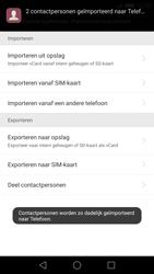 Huawei P8 (Model GRA-L09) - Contacten en data - Contacten kopiëren van SIM naar toestel - Stap 9