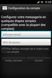 Sony ST21i Xperia Tipo - E-mail - Configuration manuelle - Étape 5