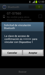 Samsung S7560 Galaxy Trend - Bluetooth - Conectar dispositivos a través de Bluetooth - Paso 7