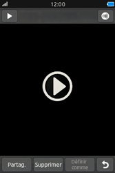 Samsung Wave M - Photos, vidéos, musique - Créer une vidéo - Étape 12