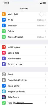 Apple iPhone iOS 12 - Rede móvel - Como ativar e desativar o modo avião no seu aparelho - Etapa 3