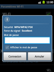 Samsung S5300 Galaxy Pocket - Wifi - configuration manuelle - Étape 7