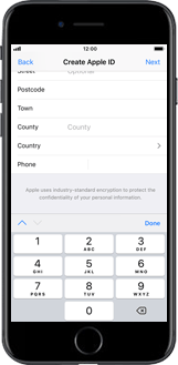 Apple iPhone X - Applications - Create an account - Step 17