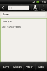 HTC A320e Desire C - Email - Sending an email message - Step 10