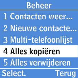 Samsung GT-E1200i - Contacten en data - Contacten kopiëren van toestel naar SIM - Stap 10
