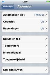 Apple iPhone 3G S met iOS 5 - Probleem oplossen - Toestel resetten - Stap 4