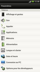HTC One S - Aller plus loin - Restaurer les paramètres d'usines - Étape 4