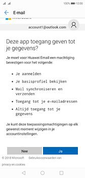 Huawei P20 - E-mail - handmatig instellen (outlook) - Stap 9