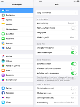 Apple iPad Pro 9.7 - iOS 10 - E-mail - Handmatig instellen - Stap 4