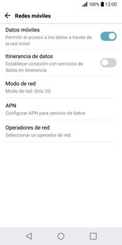 LG Q6 - Red - Seleccionar el tipo de red - Paso 7