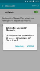 Samsung Galaxy J5 - Bluetooth - Conectar dispositivos a través de Bluetooth - Paso 7