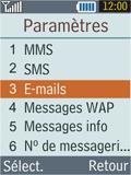 Samsung B2100 Xplorer - E-mail - Configuration manuelle - Étape 5