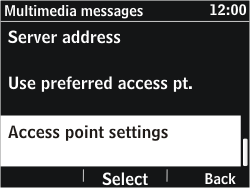 Nokia Asha 302 - Mms - Manual configuration - Step 11