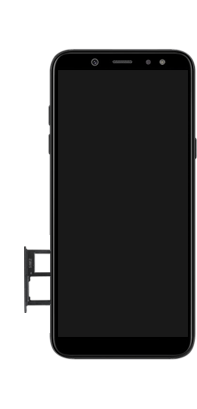 Samsung Galaxy A6 - Toestel - simkaart plaatsen - Stap 7
