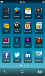 BlackBerry Z10 - Applicaties - Account aanmaken - Stap 1
