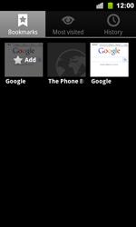 Google Nexus S - Internet - Internet browsing - Step 9