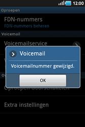 Samsung S5830 Galaxy Ace - Voicemail - handmatig instellen - Stap 7