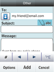 Nokia Asha 300 - E-mail - Sending emails - Step 11