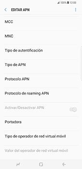 Samsung Galaxy S8 Plus - Mensajería - Configurar el equipo para mensajes multimedia - Paso 12