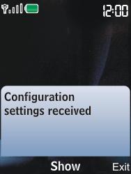 Nokia 6600i slide - MMS - Automatic configuration - Step 3