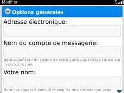 BlackBerry 9320 Curve - E-mail - Configuration manuelle - Étape 13